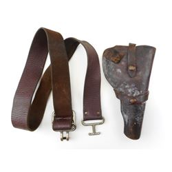 LEATHER HOLSTER & BELT
