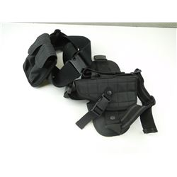 BELT WITH LEG HOLSTER & MAGAZINE HOLSTER