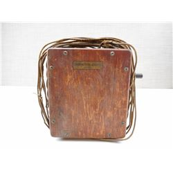 ANTIQUE NORTHERN ELECTRIC COMPANY BOX WITH WIRE