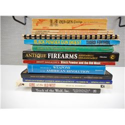 ASSORTED ANTIQUE AND OLD WEST FIREARMS BOOKS
