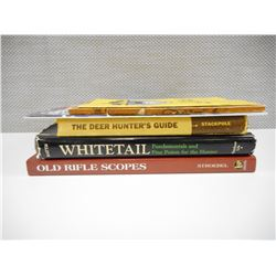 ASSORTED SCOPE & HUNTING BOOKS