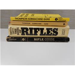 ASSORTED RIFLE & THOMPSON SUBMACHINE GUN BOOKS