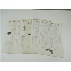 ASSORTED S&W PARTS LISTS & INSTRUCTIONS