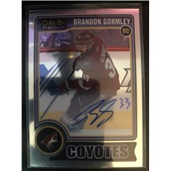 2014-15 O-Pee-Chee Rookie Autograph Brandon Bormley