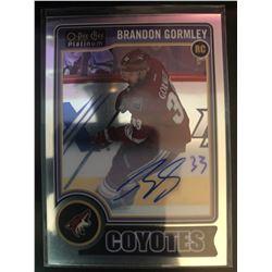2014-15 O-Pee-Chee Rookie Autograph Brandon Bormley