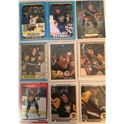 Mario Lemieux 9 Card Lot Upper Deck, O-Pee-Chee,
