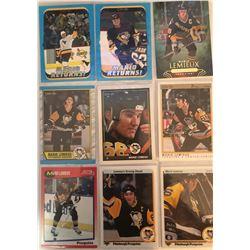 Mario Lemieux 9 Card Lot Upper Deck, O-Pee-Chee,
