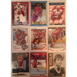 Steve Yzerman 9 Card Lot Upper Deck, Score , Heroes