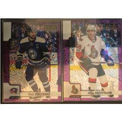 2017-18 O-Pee-Chee Violet Pixels Nick Foligno #44, And