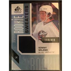 2016-17 SP Game Used Rookie Sweaters Sonny Milano