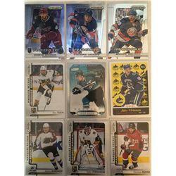 9 Card Lot Of Rookies Alex Tuch, Jake Virtanen, Steve