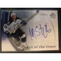 2005-06 Upper Deck Autographs Martin St.Louis Card #SL