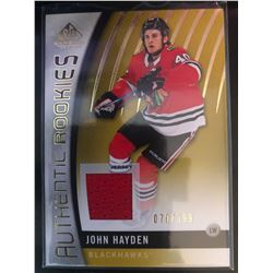 2017-18 SP Game Used Rookie Jersey John Hayden #117