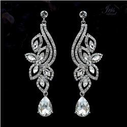 Czech Crystal & Rhinestone Drop Dangle Earrings