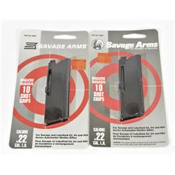 Two Savage Arms Magazines