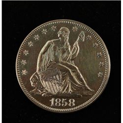 1858 Liberty Seated Half Dollar