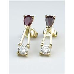 Exceptionally Fine Burmese Ruby & Diamond Earrings