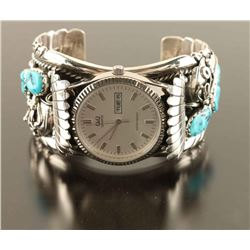 Navajo Silver Sleeping Beauty Watch Cuff