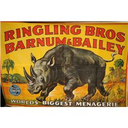 Ringling Brothers Canvas Circus Banner