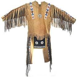Plains Indian Beaded Buckskin Dance Outfit