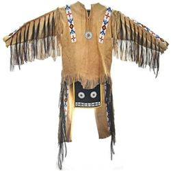 Plains Indian Beaded Buckskin Dance Outfit