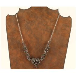 Ladies Vintage Marcasite & Stone Necklace