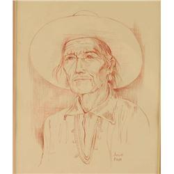 Conte Crayon Sketch by Julie Frye