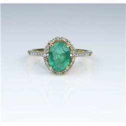 Lovely Emerald & Diamond Ring