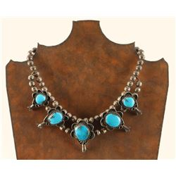 Vintage Sterling Silver & Turquoise Choker