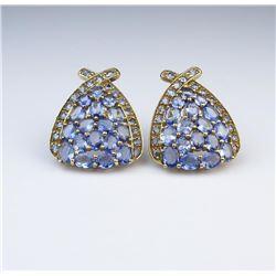 Fashion Statement Tanzanite Earrings