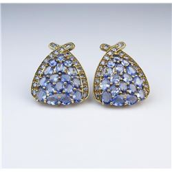 Fashion Statement Tanzanite Earrings