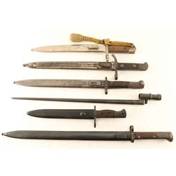 Lot of 6 Bayonets