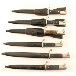 Lot of 6 German K98 Bayonets