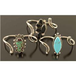 Vintage Turquoise & Onyx Rings