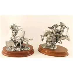 Lot of 2 Chilmark Pewter Sculptures