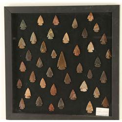Framed Arrowhead Collection