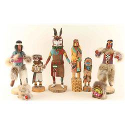Lot of 6 Hopi Kachinas