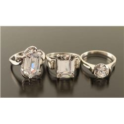 Lot of 3 CZ Rings