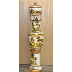 Hand Painted Majolica Water Filter