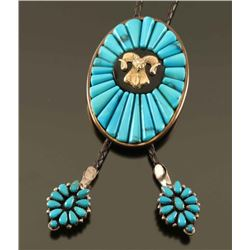Turquoise with Ram Motif Bolo Tie