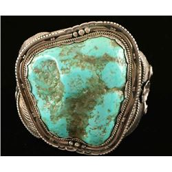 Large Vintage Navajo Turquoise Cuff