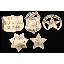 Sterling Silver Repro Sheriff Badge Lot