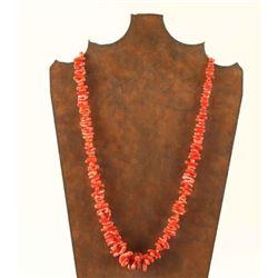 Navajo Made Mediterranean Coral Necklace