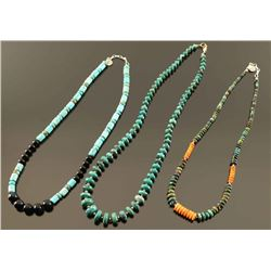 Lot of 3 Navajo Beaded Necklaces
