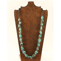 Turquoise Magnesite Nugget Necklace
