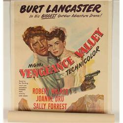 Vintage 'Vengeance Valley' Movie Poster