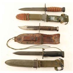 Lot of US Bayonets
