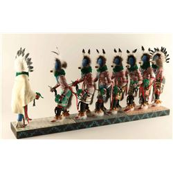 Rare 8 Figure Healing Ceremony Kachina