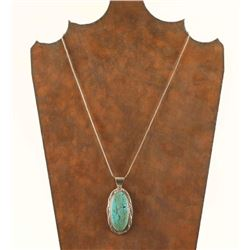 Turquoise Pendant Necklace by Herbert Tsosie
