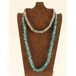 Large Pueblo Turquoise Necklace & Heishi